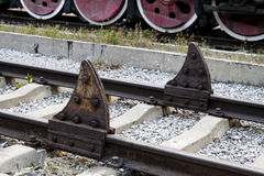 Vieil arrêt de train Photographie stock