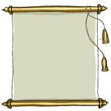 Vieil art royal de peinture de rouleau Photo stock