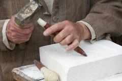 Vieil artisan Mason Image libre de droits