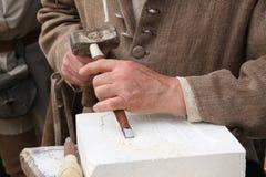 Vieil artisan Mason Photos libres de droits