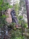 Vieil Asiatique de budha d'un dieu antique de la Thaïlande Photos libres de droits