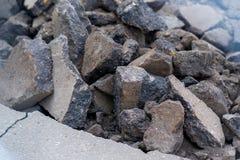 vieil asphalte cassé Images libres de droits