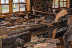 Vieil atelier de charpentier Photos libres de droits