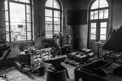 Vieil atelier, guerre biologique de werkstatt Photos libres de droits