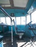 Vieil autobus bleu Image stock