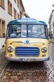 Vieil autobus de vintage Setra S6 à Fribourg image stock