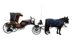 Vieil autocar de cheval Image libre de droits