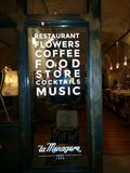 Vieil avant de restaurant en Florence Firenze, Iltaly Photos libres de droits