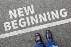 Vieil avenir de la vie de nouveaux débuts de début après le deci de succès de buts Photographie stock