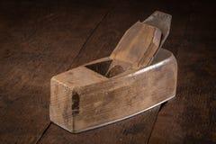 Vieil avion de bloc pour le travail du bois et la menuiserie Photo stock
