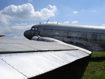 Vieil avion de passagers Photos libres de droits