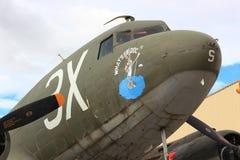 Vieil avion militaire Photo stock