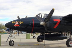Vieil avion militaire Image stock
