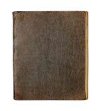 Vieil copybook ou agenda fermé sur le blanc photographie stock libre de droits