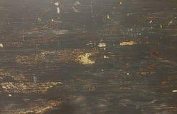 Vieil en bois âgé rustique de conseils en bois approximatifs sales avec la peinture noire Photographie stock libre de droits
