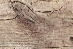 Vieil en bois avec les WI criqués de fond de surface de soulagement de tranche de conseil Images libres de droits