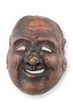 vieil en bois blanc d'isolement de masque Photographie stock