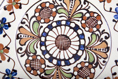 Vieil en céramique floral Images libres de droits