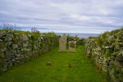 Vieil endroit d'enterrement sur Unst Photo libre de droits