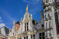 Vieil enregistrement civil Bruges Belgique images libres de droits