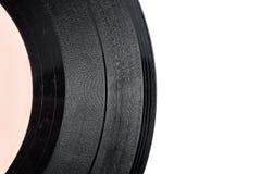 Vieil enregistrement de vinyle rayé image libre de droits