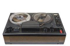 Vieil enregistreur de bande magnétique audio bobine à bobine des années '70 Photo stock