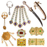 vieil ensemble de bijoux Photo stock