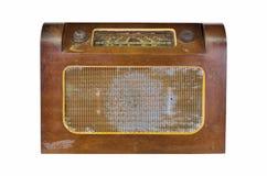 Vieil ensemble sans fil domestique de récepteur radioélectrique Images stock