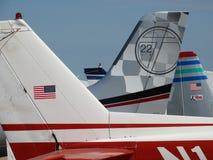 Vieil entraîneur fatigué de Cessna 150 image libre de droits