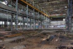 Vieil entrepôt vide Images stock