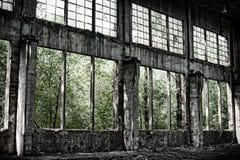 Vieil entrepôt dans le rétro type Photo stock
