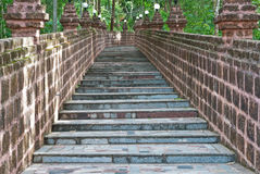 Vieil escalier. Photographie stock