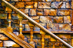 Vieil escalier de château Photo libre de droits