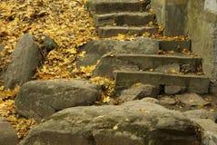 Vieil escalier en pierre Photographie stock libre de droits