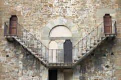 Vieil escalier en pierre Image libre de droits