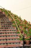 Vieil escalier espagnol de type Photo stock