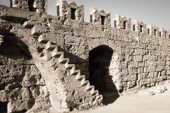 Vieil escalier, Rodos Images stock