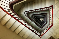 Vieil escalier victorien Photo stock