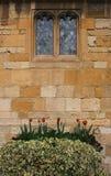 Vieil extérieur en pierre de Cotswold Image libre de droits