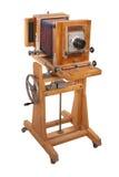 Vieil grand appareil-photo en bois de format Photo libre de droits