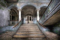 Vieil hôpital dans Beelitz Photographie stock