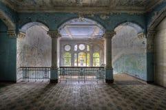 Vieil hôpital dans Beelitz Image stock
