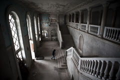 Vieil hôtel abandonné Image libre de droits