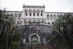 Vieil hôtel abandonné Photographie stock libre de droits
