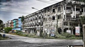 Vieil hôtel dans le phe d'interdiction Images libres de droits