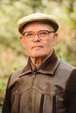 Vieil homme à l'extérieur Photo libre de droits