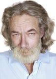 Vieil homme adulte avec les cheveux gris photographie stock libre de droits