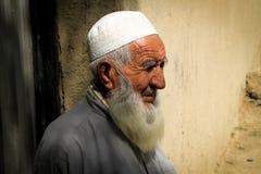 Vieil homme afghan Image libre de droits