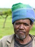 Vieil homme, Amhara, Ethiopie photographie stock libre de droits