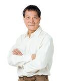 Vieil homme asiatique photographie stock libre de droits